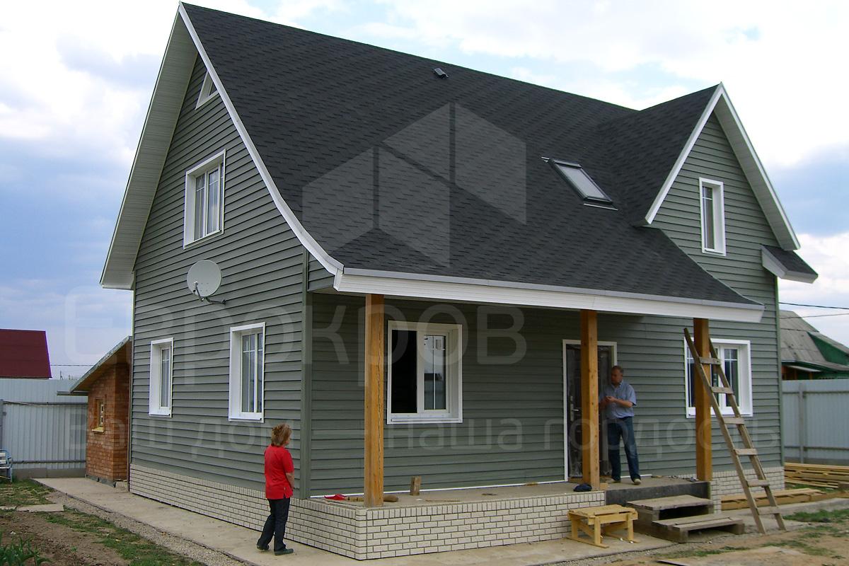 Серый сайдинг фото домов