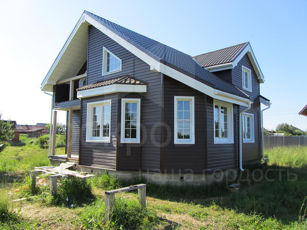 коричневый сайдинг фото домов